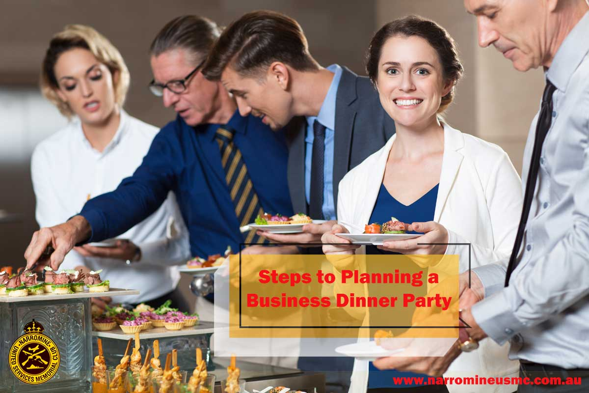 Business Dinner Party in a restaurant in Narromine